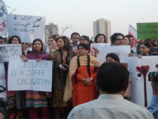 Church and civil society groups stage protest