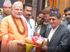 Modi's puja at a temple in Nepal
