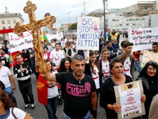 Rally against Iraq and Syria Christians persecution