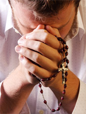 refusing to remove rosary beads