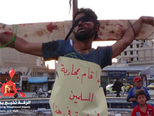 isis crucifixions